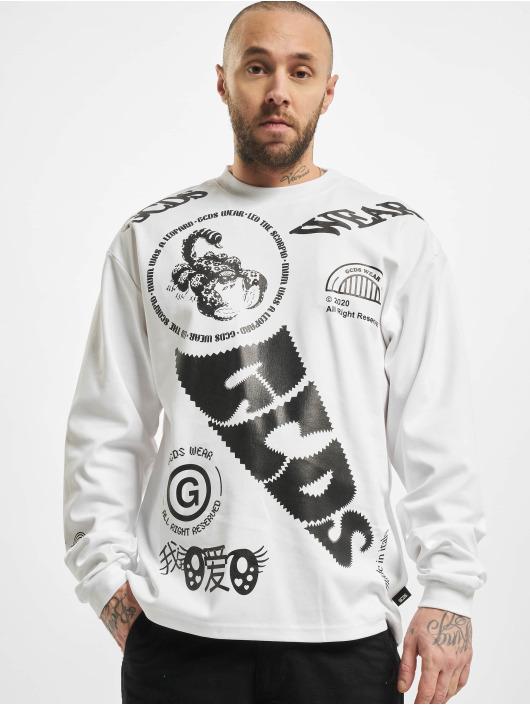GCDS Pitkähihaiset paidat Elements Long valkoinen