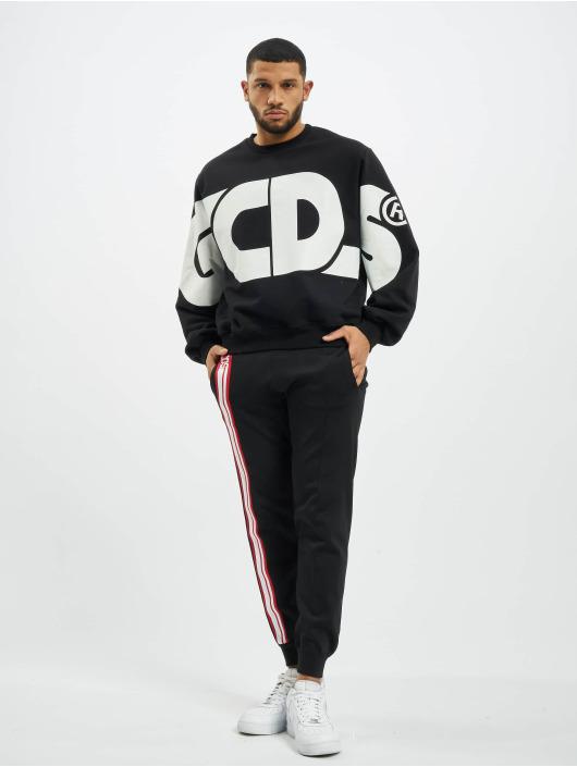 GCDS Pullover Macro Logo Round schwarz