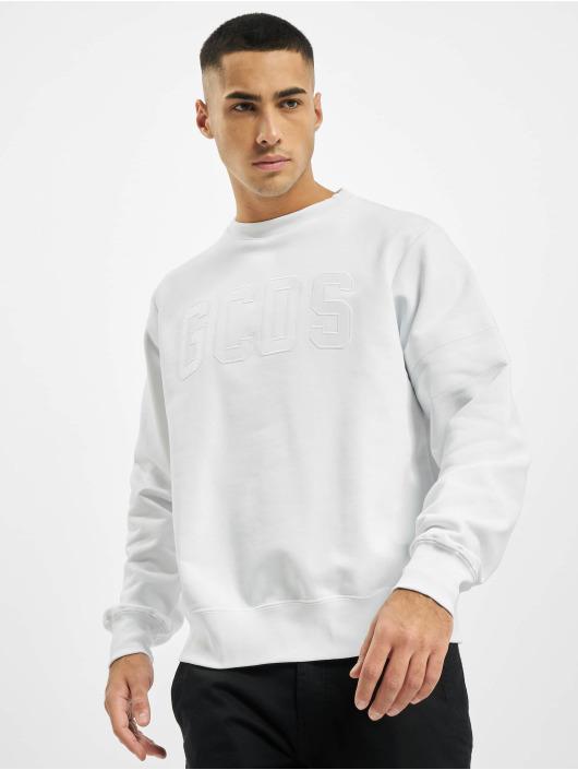 GCDS Pullover Logo weiß