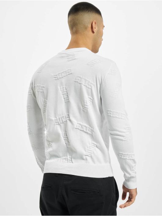 GCDS Pulóvre Layer biela