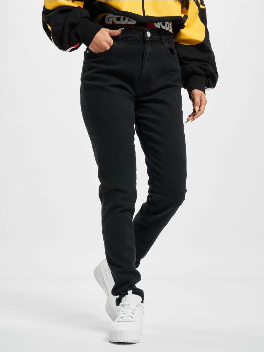 GCDS Skinny Jeans Basic čern