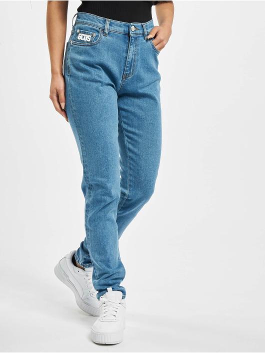 GCDS Skinny Jeans Basic modrý