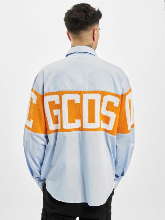 GCDS Skjorte Logo blå