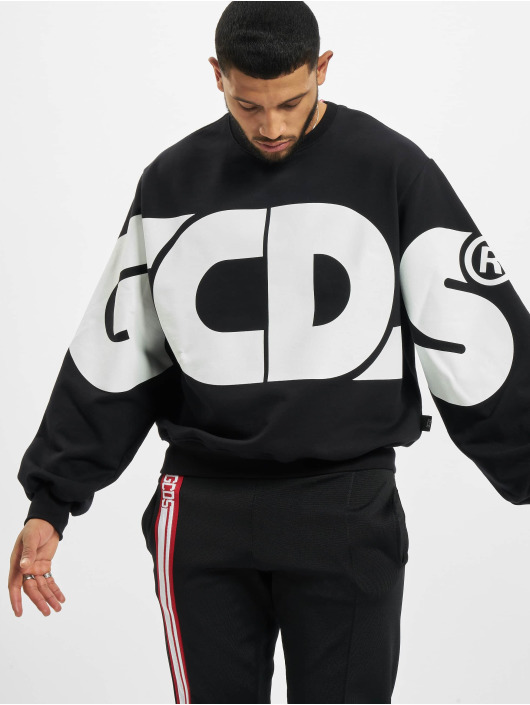 GCDS Svetry Macro Logo Round čern