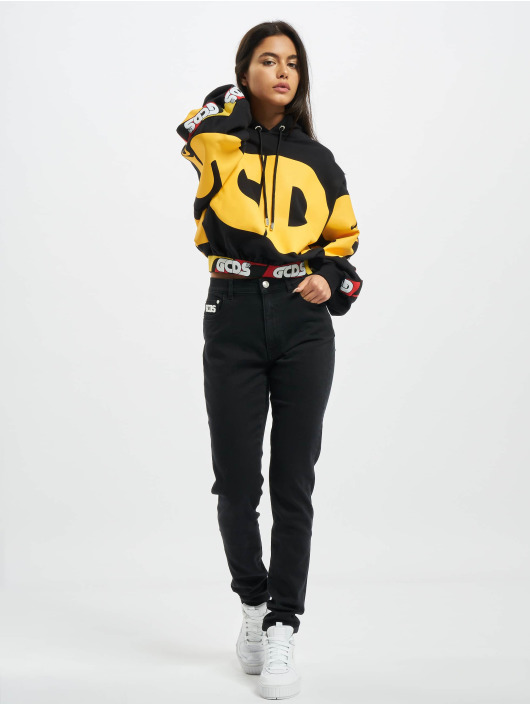 GCDS Sweat capuche NEW HUGE LOGO noir