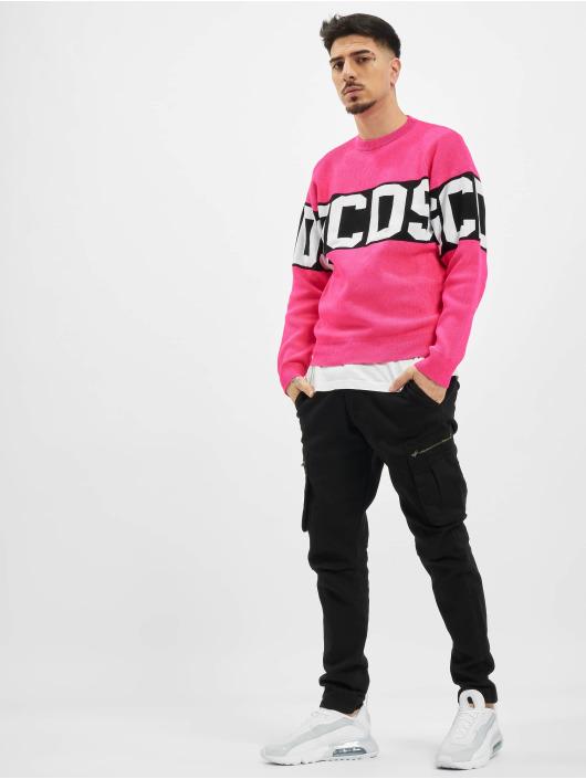 GCDS Swetry Fluo Logo pink