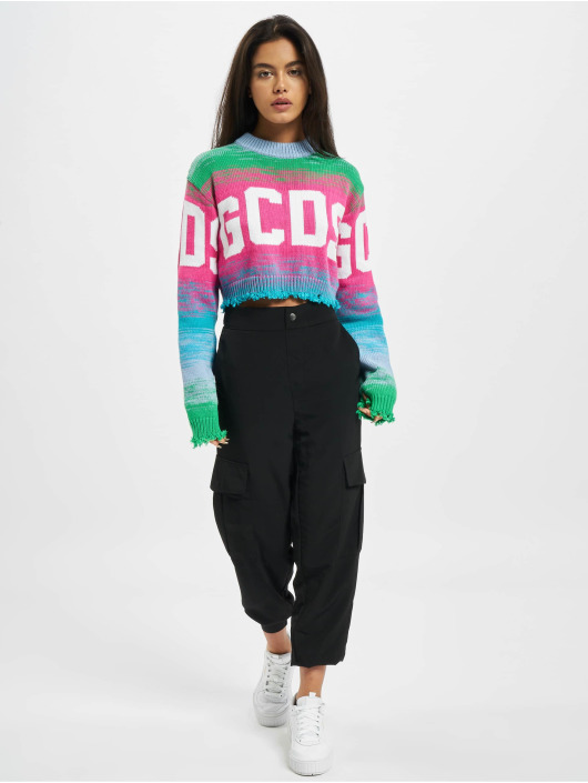 GCDS Swetry Crop Logo pink