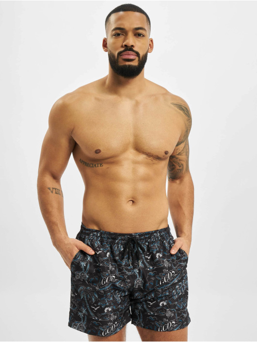 GCDS Swim shorts Tropical black