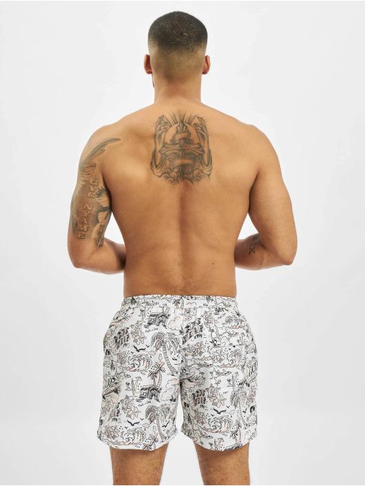 GCDS Swim shorts Tropical white