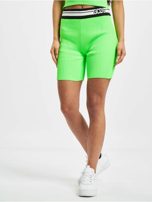 GCDS Szorty Neon zielony