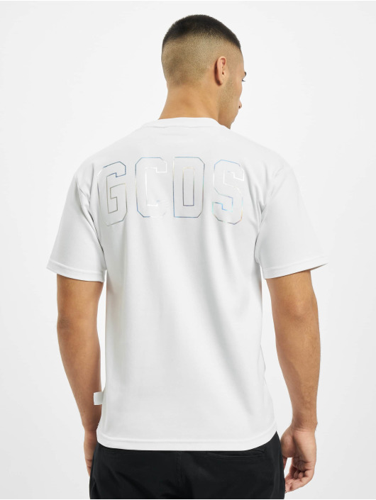 GCDS T-Shirt Can't Create blanc