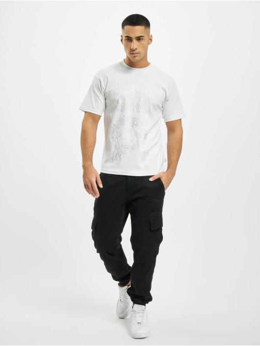 GCDS T-Shirt Can't Create blanc