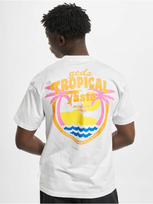 GCDS T-Shirt Tropical Taste blanc
