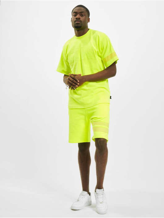 GCDS T-Shirt Fluo Logo jaune