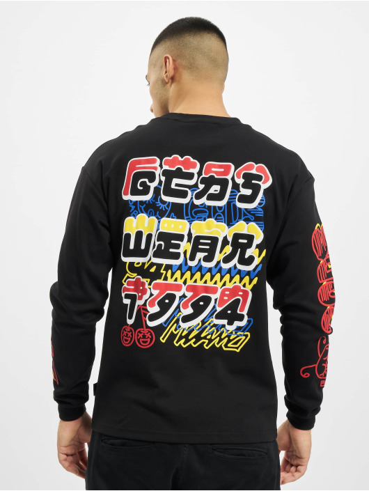 GCDS T-Shirt manches longues Kawaii Long Sleeves noir
