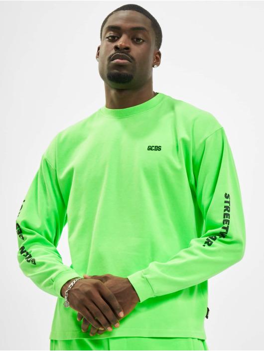 GCDS T-Shirt manches longues Logo Print vert