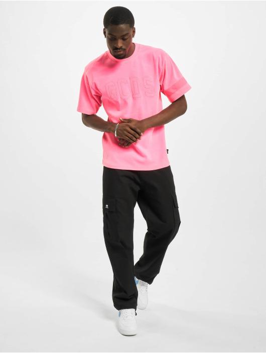 GCDS T-shirt Fluo Logo rosa
