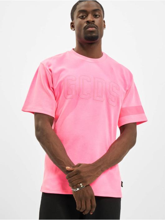 GCDS T-Shirty Fluo Logo pink