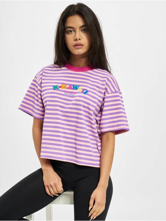 GCDS T-Shirty Stripes pink