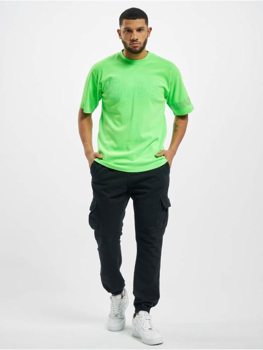 GCDS T-Shirty Logo zielony