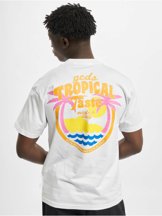GCDS T-skjorter Tropical Taste hvit