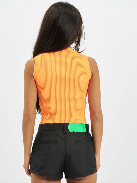 GCDS Topy Basic oranžový