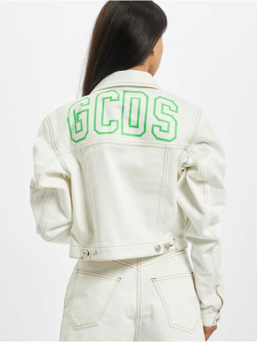GCDS Übergangsjacke Plain weiß