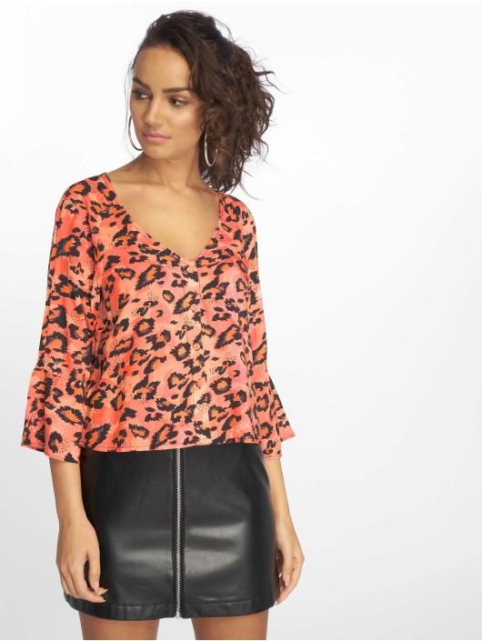 Orange Chemise Black Blouseamp; Leopard Glamorous Femme 597678 Oyv0nwPmN8