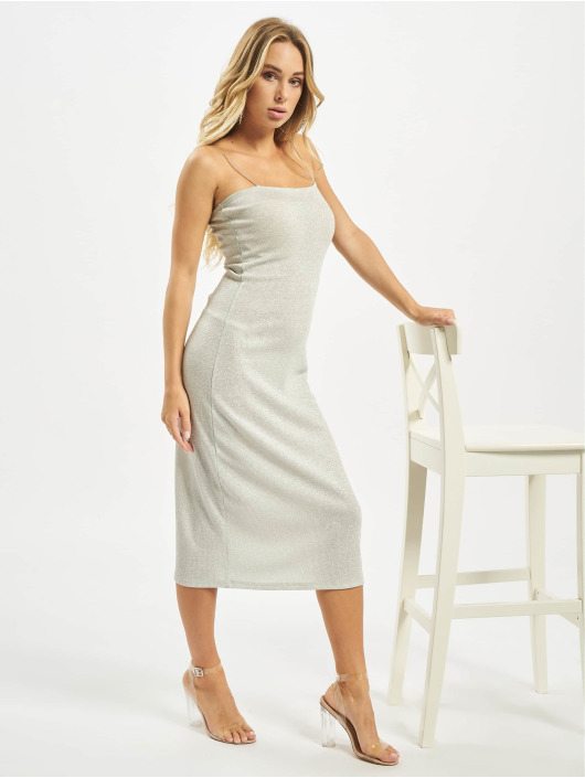 Glamorous Dress Juna silver colored