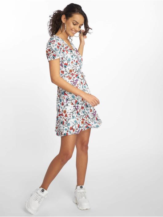 Glamorous Kleid Bird Floral weiß