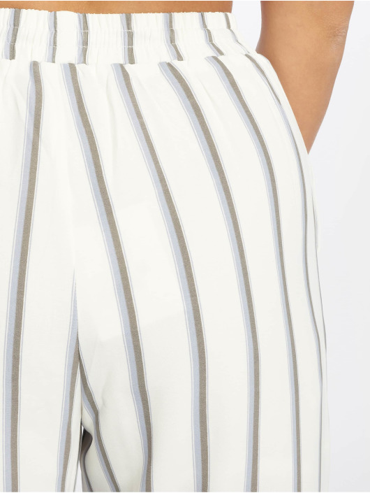 Striped Pantalon Glamorous Femme 597761 Blanc Chino XOiTPkZu