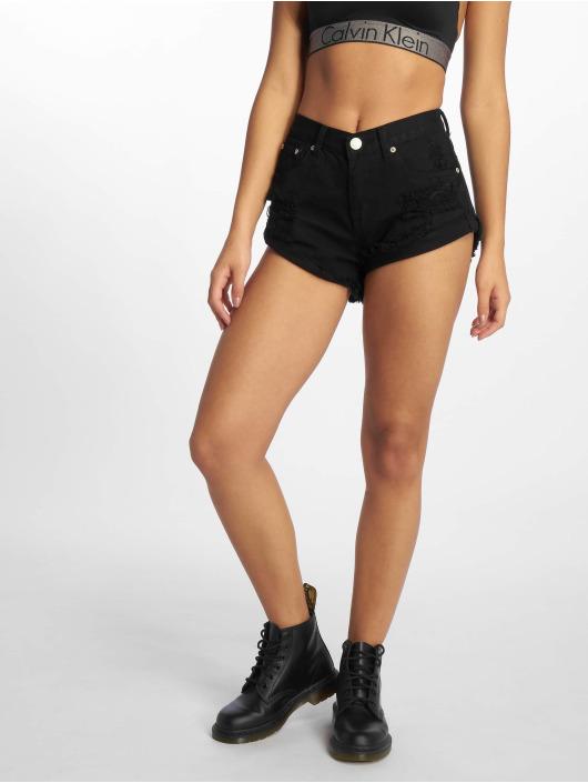 Glamorous Pantalón cortos Fransen negro