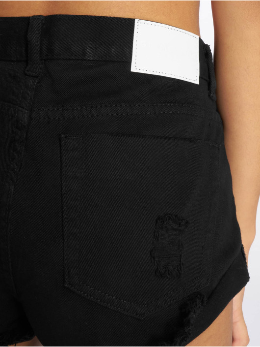 Glamorous Shorts Fransen schwarz