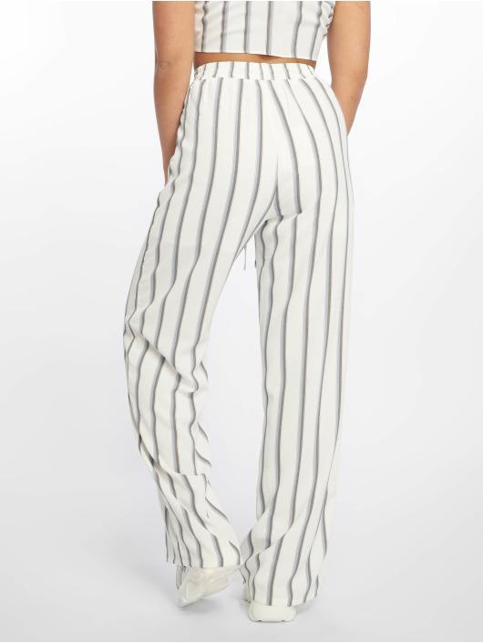 Glamorous Stoffbukser Striped hvit