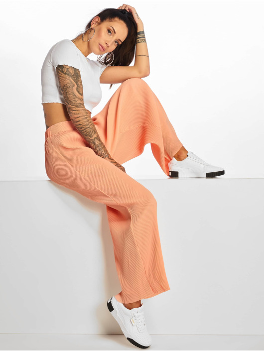 Glamorous Stoffbukser Plissee oransje