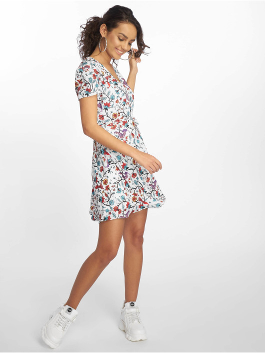 Glamorous Sukienki Bird Floral bialy