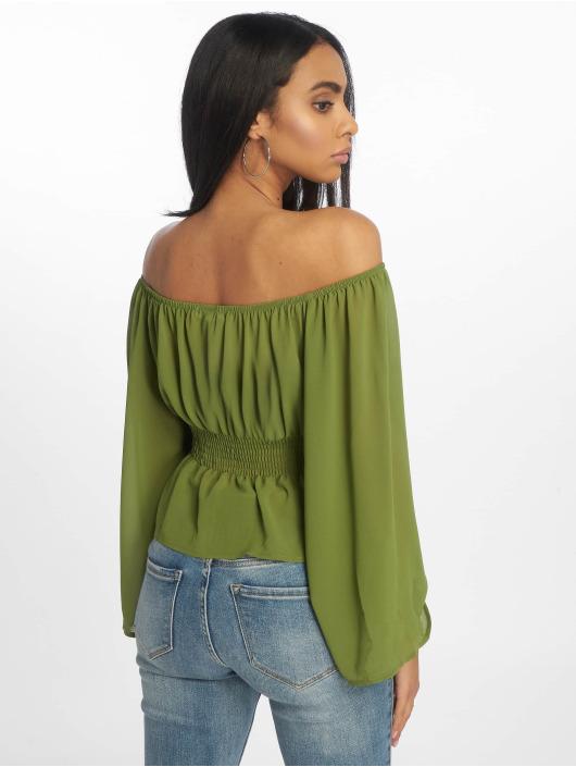 Glamorous Top Ladies Woven grün