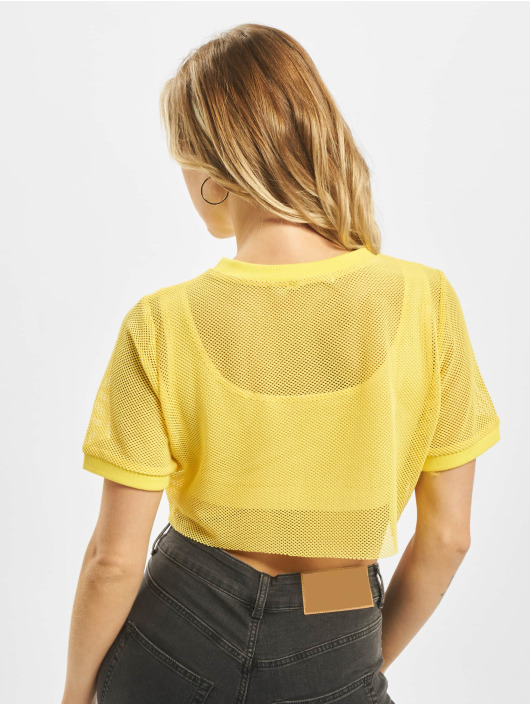 Glamorous Top 2-In-1 Mesh yellow