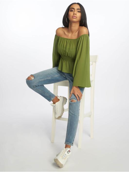 Glamorous Topper Ladies Woven grøn