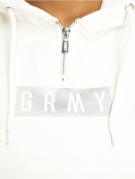 Grimey Wear Bluzy z kapturem Fluid Planet Crop bialy