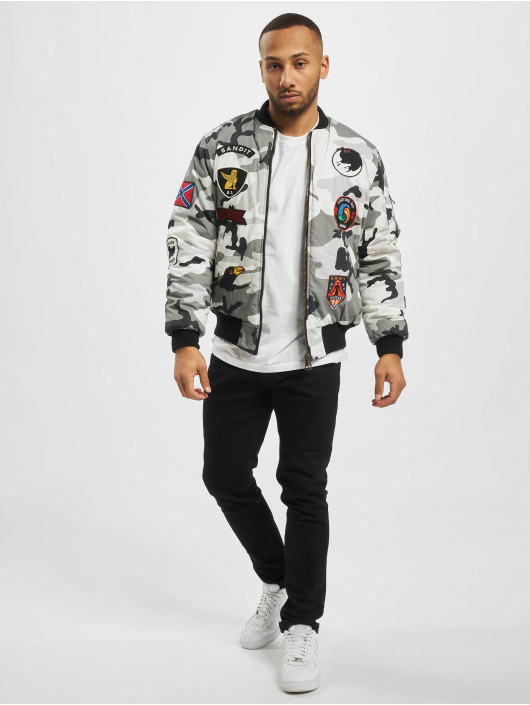 Grimey Wear Bomber Double Face camouflage