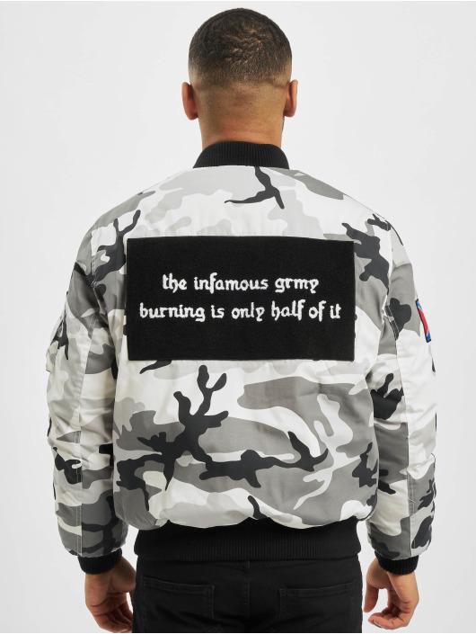 Grimey Wear Bomberjacka Double Face kamouflage