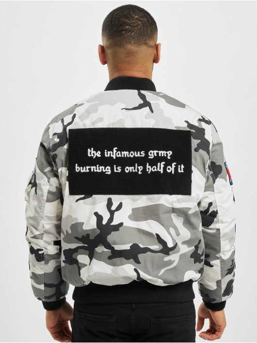 Grimey Wear Bomberjakke Double Face camouflage
