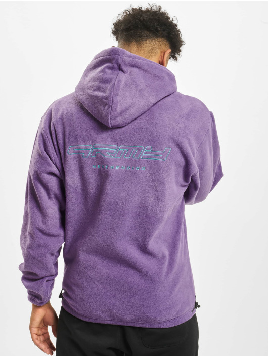 Grimey Wear Hoodie Sighting In Vostok Polar Fleece purple