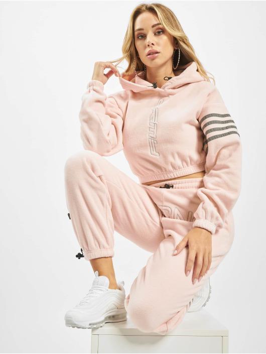 Grimey Wear Hoodies Sighting In Vostok Polar Fleece Crop rosa