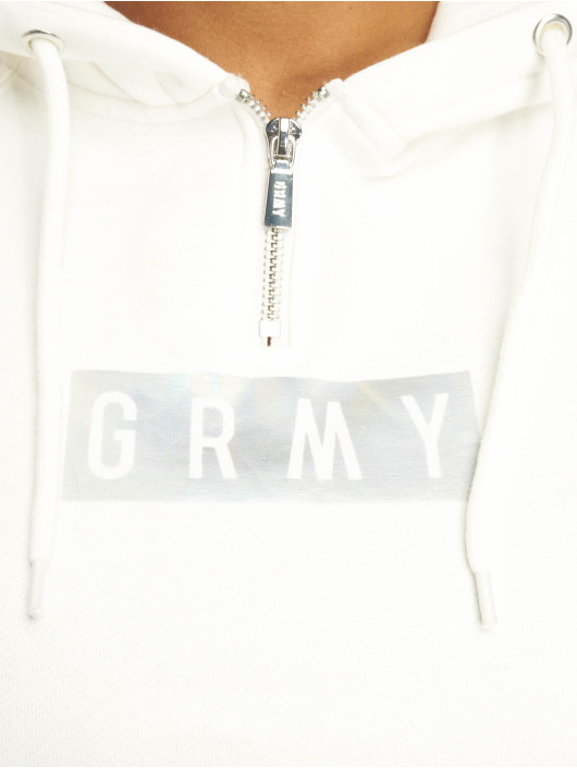 Grimey Wear Hoody Fluid Planet Crop weiß