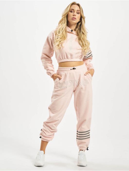 Grimey Wear Joggebukser Sighting In Vostok Polar Fleece rosa