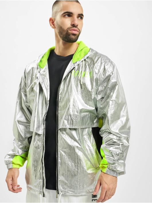 Grimey Wear Lightweight Jacket Planete Noire Silvern silver colored