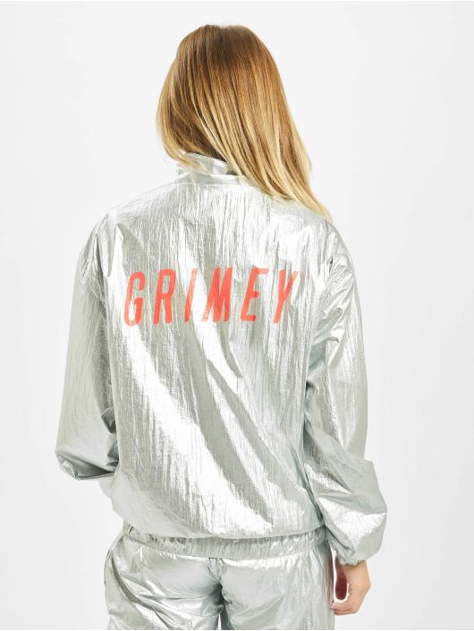 Grimey Wear Lightweight Jacket Planete Noire silver colored