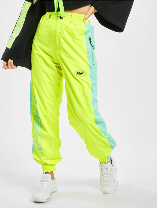 Grimey Wear Pantalón deportivo Mysterious Vibes Fluor amarillo